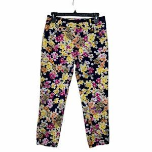 Cartonnier Yellow Pink Floral Cropped Pants